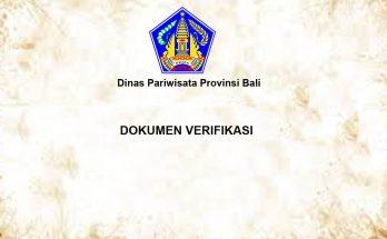 Verifikasi Bali Government Tourism Office